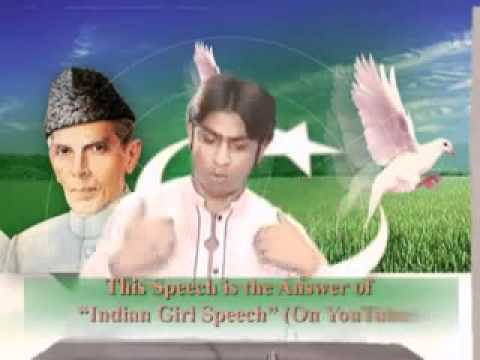 Reply to Indian Girl Speech Against Pakistan  All Indian Must Watch