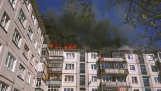 Пожар в Северодвинске на Трухинова 2