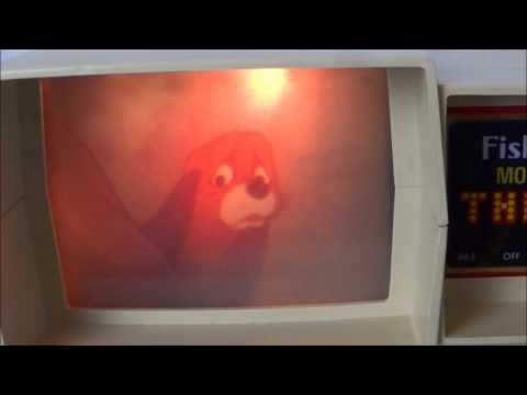 The Fox And The Hound On A Vintage Fisher Price Movie Viewer Theater