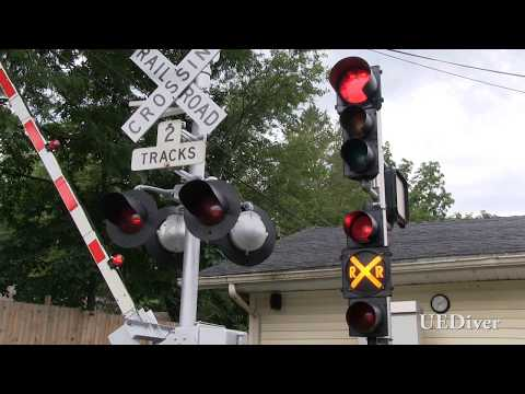 (Over 375,000 Views!) June 2017 New Bell and Pre-Emption Traffic Light (Backyard Railroad Crossing)