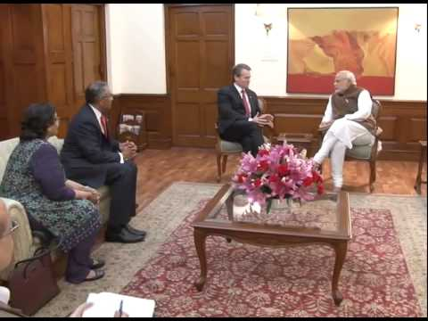 The Chairman and CEO, Bank of America Brian Moynihan calls on PM Modi