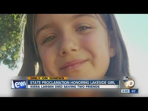 State proclamation honoring Lakeside girl