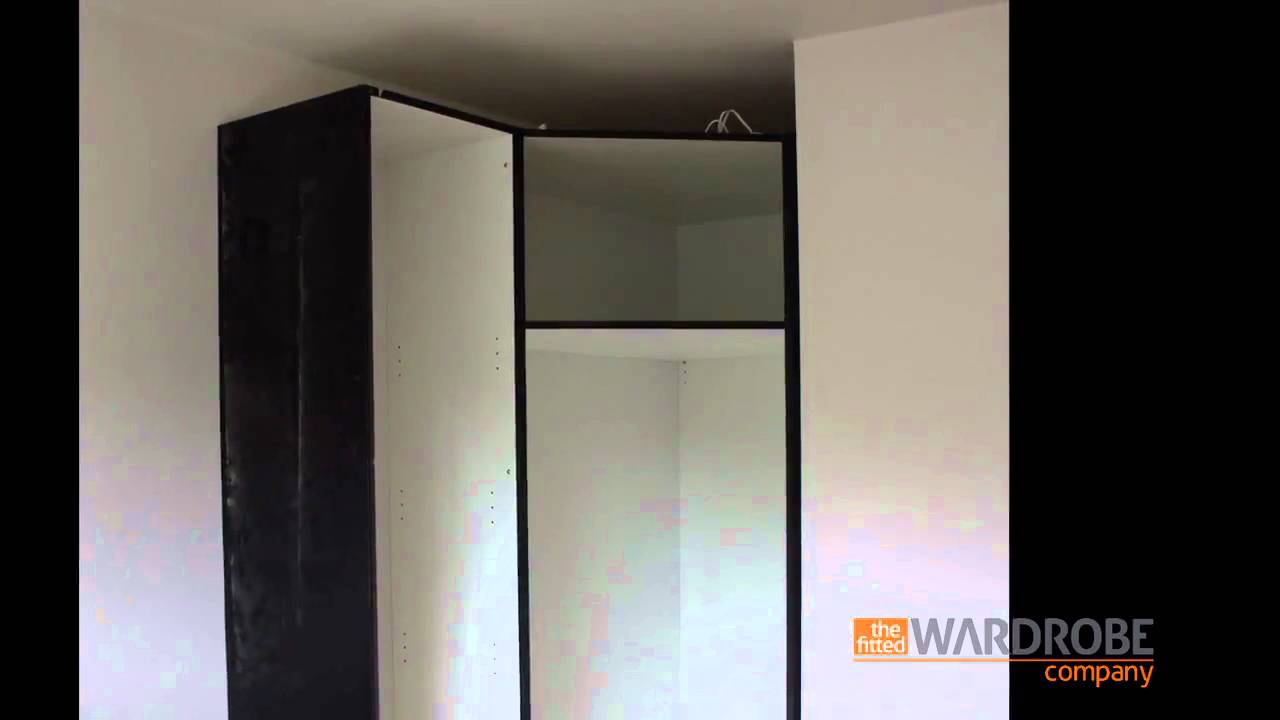 Corner Wardrobe Fitted Corner Wardrobe High Gloss Black