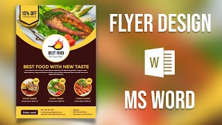 Design a Print-ready Flyer in MS Word  | Create a Food flyer - Microsoft Word Tutorial