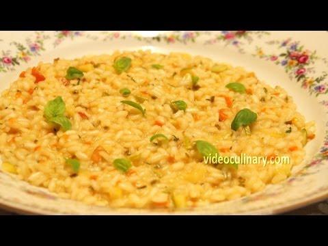 Italian Vegetable Risotto Recipe - Video Culinary