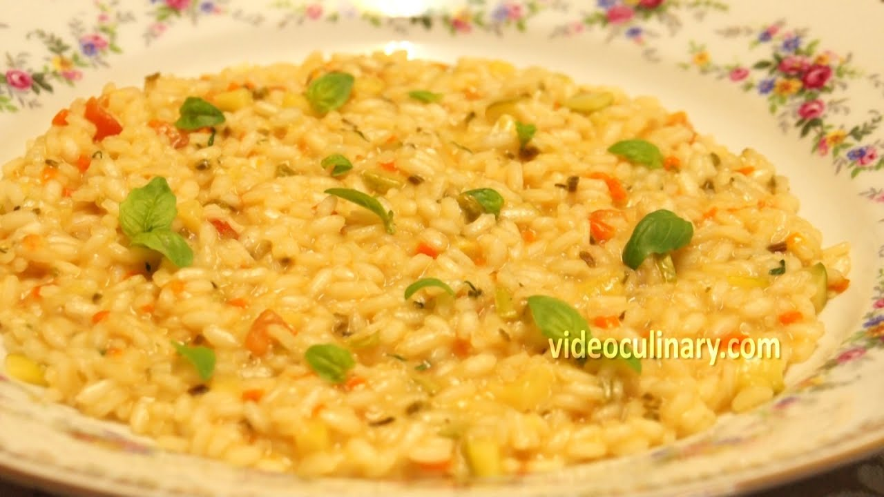 Italian vegetable risotto recipe video culinary youtube forumfinder Choice Image