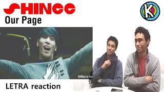 SHINee - Our Page [LETRA / LYRIC REACTION ESPAÑOL]
