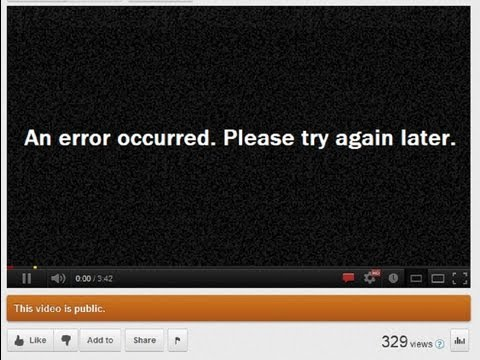 "YOUTUBE ERRORS SOLVED!! - NO BULLSH!T ""An error occurred. Please try again later."""