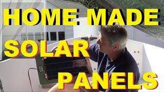 Solar Sailboat HOME MADE SOLAR PANELS ~ Sunday SOLAR POWER Brunch ~