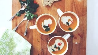 Easy Carrot & Coriander Soup | A Tasty Plate