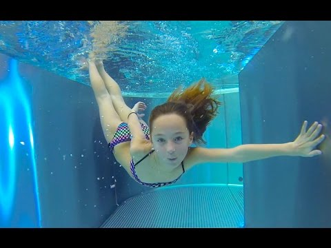 Thumbnail: Carla Underwater - swimming underwater, jumping and water slides