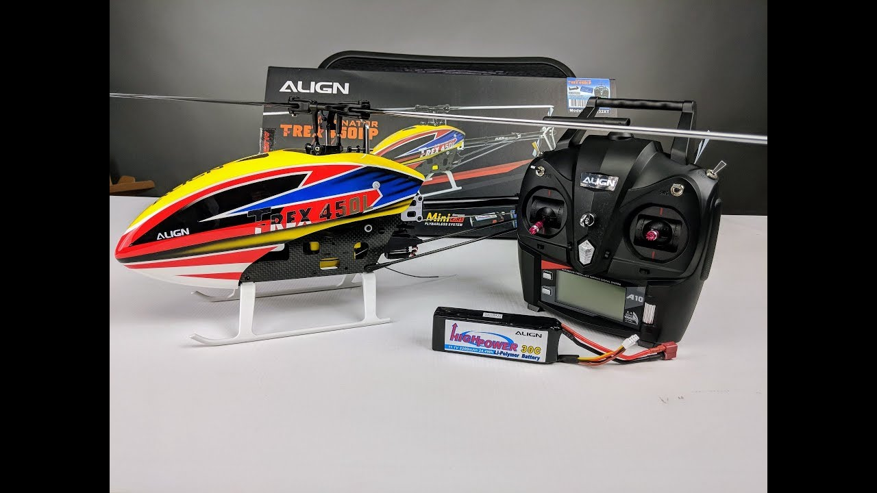 Align T-Rex 450LP (A)RTF Helicopter   Unboxing & Quick Assembly!