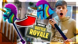 Kid makes Fortnite Items In Real Life... (Fortnite Battle Royale In Real Life)