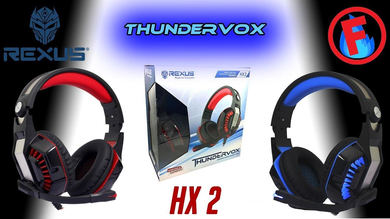Unboxing Gaming Headset Terjangkau Rexus Thundervox Hx2 Youtube Vonix F55