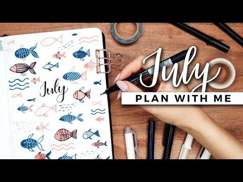 PLAN WITH ME | July 2019 Bullet Journal Setup