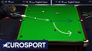 Shots Recreated: Mark Allen's 'Brilliant Blue' | English Open Snooker 2019 | Eurosport