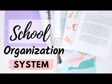 School Organization System & Binder Setup 2019 | Organization Tips For School