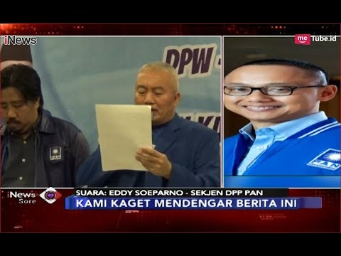 Sekjen DPP PAN Kaget Dengar Berita DPW PAN Kalsel Dukung Kubu Jokowi - iNews Sore 11/12