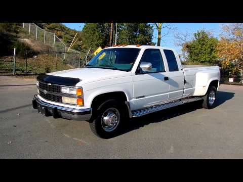 Chevrolet 3500 Dually Extended Cab Pickup 2 Owner 454 1 ton Extra