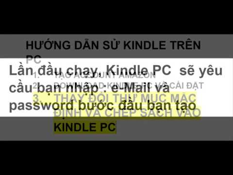 Huong dan tao account Amazon, Cai Dat Kindle, Chep Ebooks