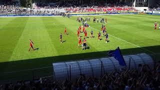 SV Sandhausen - Hamburger SV Mannschaft nach dem Spiel ( 12.08.18 )