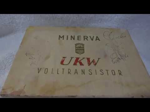1960? Minerva UKW transistor radio (made in Austria)