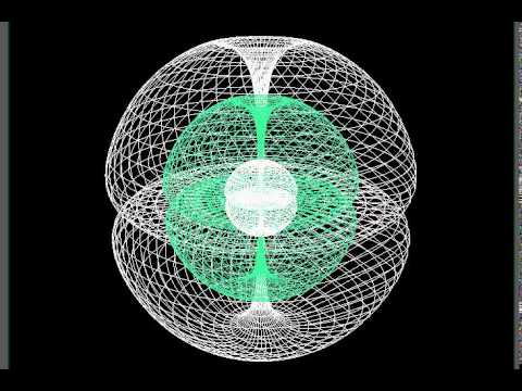 Multiple Double Torus Seed 3d Wireframe Animation By
