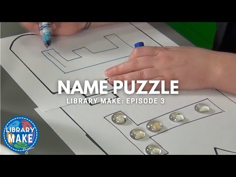 LIBRARY MAKE: Name Puzzle (Literacy DIY)