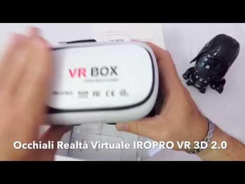 RECENSIONE Occhiali Realtà Virtuale 3D VR BOX IROPRO 2.0