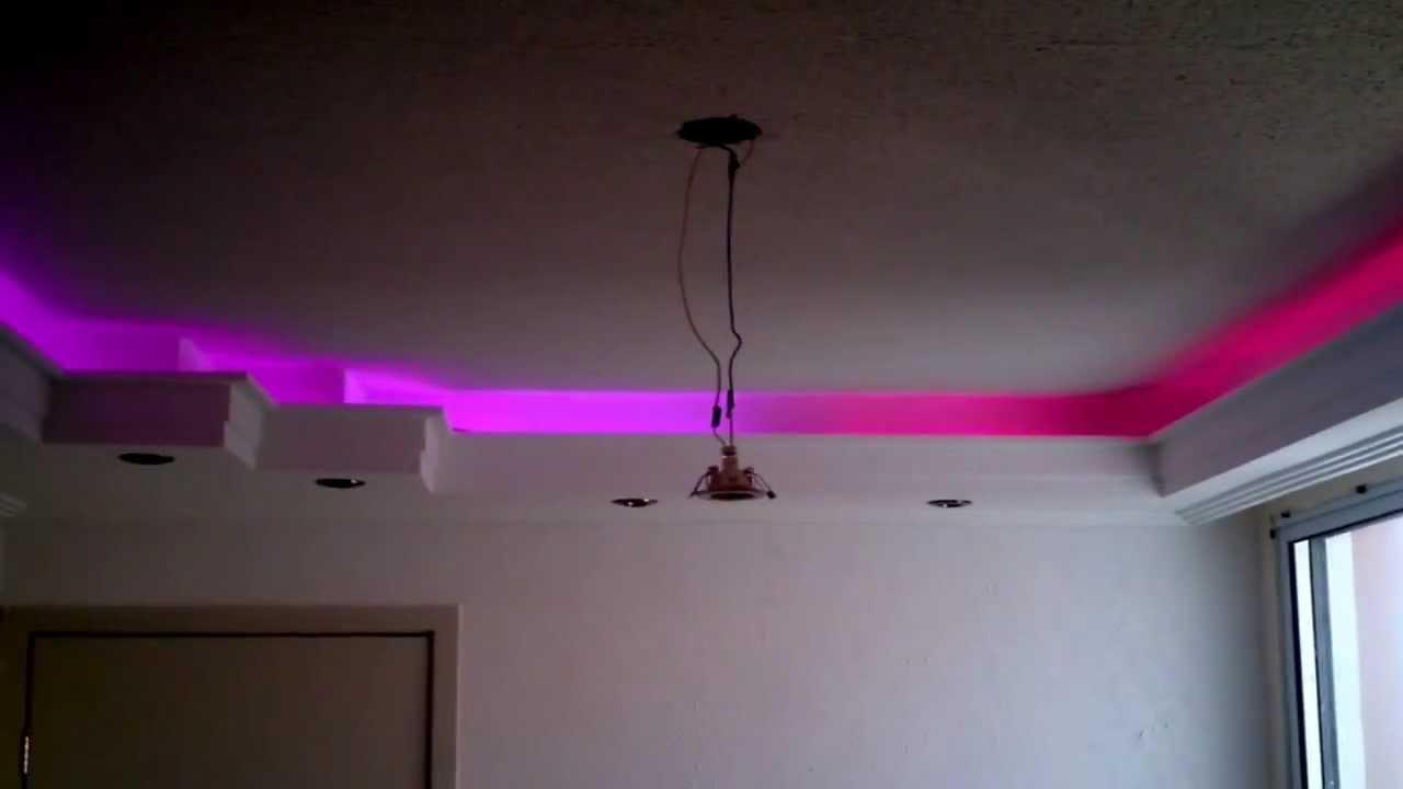 Sanca de Gesso com Mangueira de leds RGB SMD 5050! - YouTube