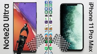 Note 20 Ultra vs. iPhone 11 Pro Max Speed Test