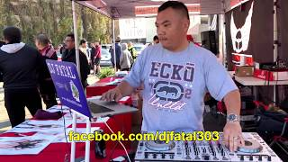 DJFatal Dj at 'Fresno Hmong New Year 2018 CAR SHOW' with Hot Import Models