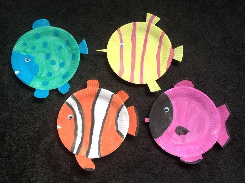 Diy Papptellerfische Basteln Mit Kindern