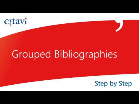 Grouped Bibliographies