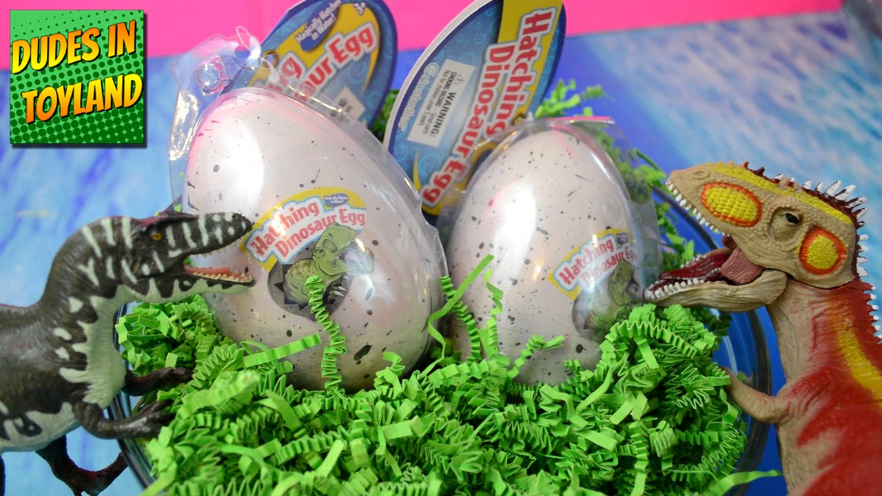 Toy dinosaur eggs hatching HUGE + Target dino toys ...