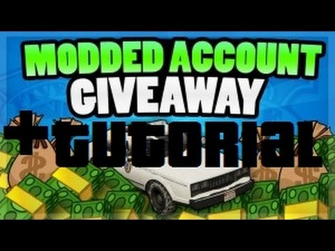 GTA 5 MODS?! | GTA5 MODDED ACCOUNTS GIVEAWAY + TUTORIAL!  | Buy accounts now!