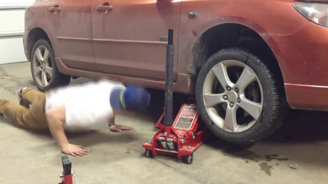 How to Jack up your Car with Jack stands *Mazda 3 2004 gt ...