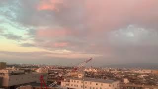 豊中市上空で観察された二重虹。