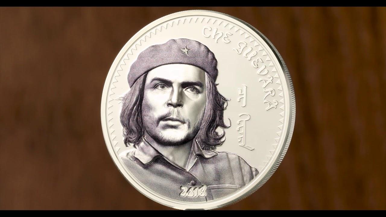 CHE GUEVARA Ernesto Serna Argentina 1 Oz Silver Coin 1000 Togrog Mongolia 2018