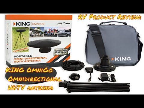 Product Review   KING OmniGO OA1501 Portable HDTV Antenna   Free TV in our  RV