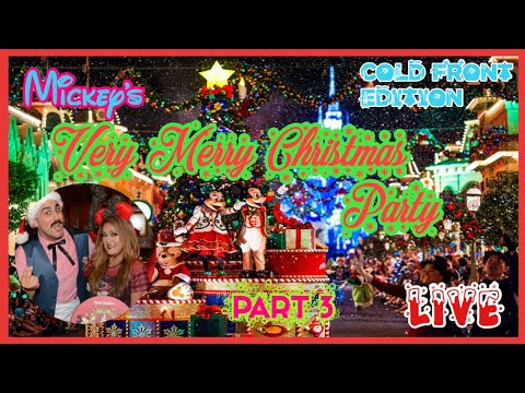 🔴LIVE.Mickey's Very Merry Christmas Party🎄Cold Front Edition|Part 3. Castle Stage Show