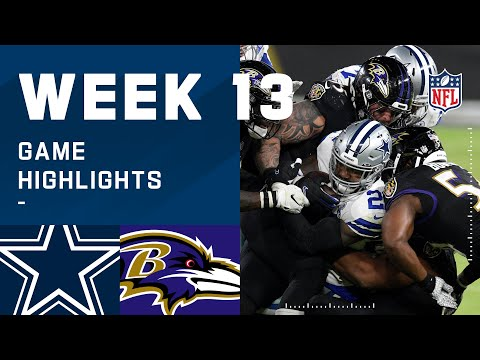 Cowboys vs. Ravens Week 13 Highlights | NFL 2020