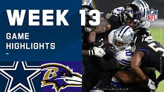 Cowboys vs. Ravens Week 13 Highlights | NFL 2020