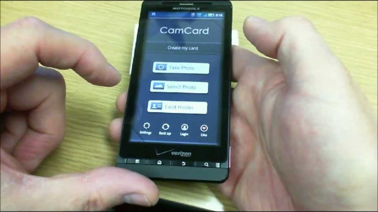 Best Android App for Business Card Scanning - YouTube