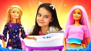 Сборник видео про куклы. Барби, Штеффи и Кен в Салоне Красоты. Игрушки для девочек и игры в одевалки