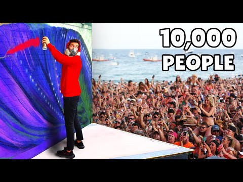 Making Street Art In Front Of 10,000 People ..