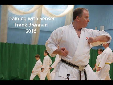 Karate Training with Sensei Frank Brennan 2016
