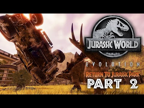 Jurassic World Evolution - REGRESO AL PARQUE JURÁSICO Guía de Juego Parte 2 - VUELVE A PASAR + vídeo