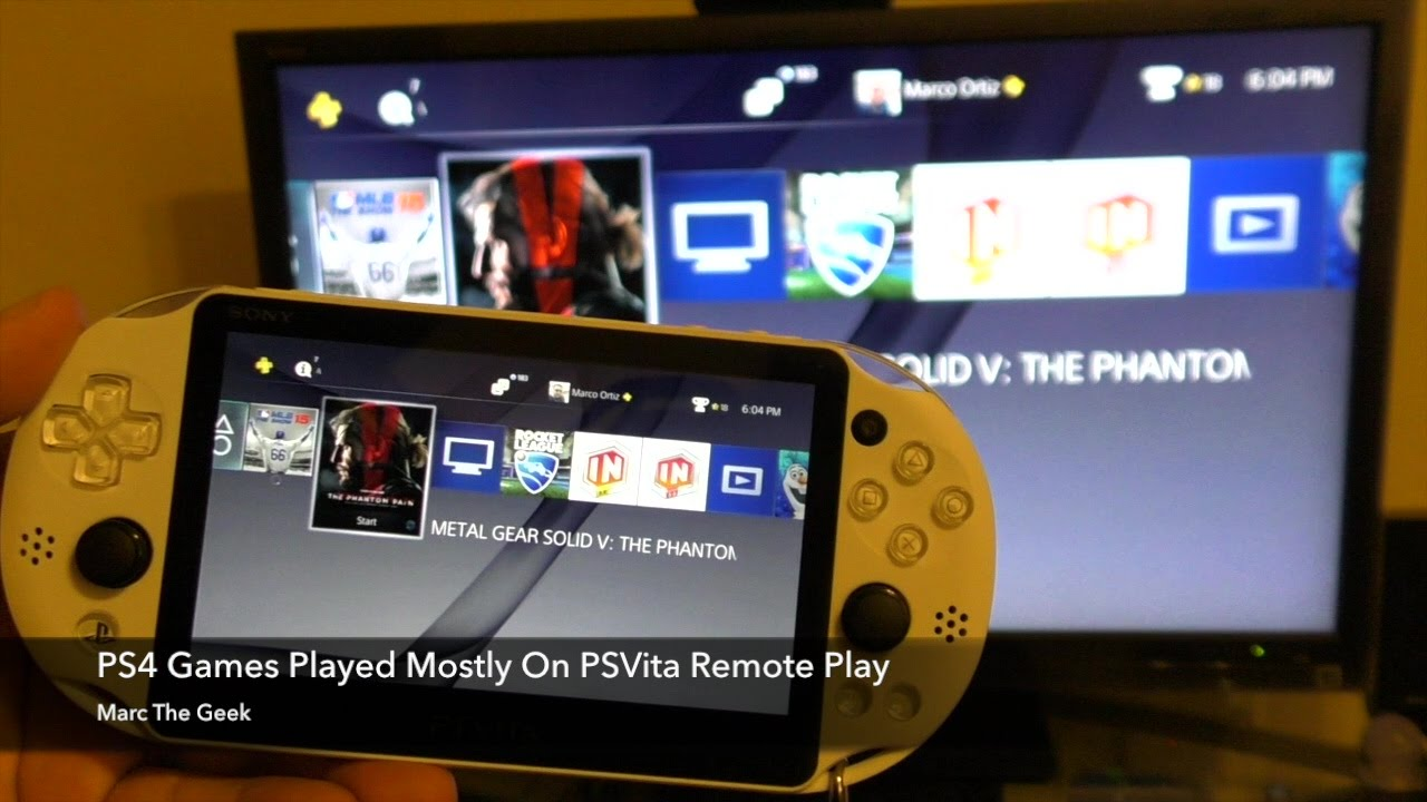 Ps4 Games Played Mostly On Psvita Remote Play Youtube