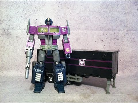 MP-10 Shattered Glass Optimus Prime - Transformers Masterpiece Action Figure Review & Transformation